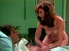 Retro slut comes to the hospital to serve one patient at the highest level. Kinky couple was caught by head nurse. Enjoy watching The Classic porn sex tube video.