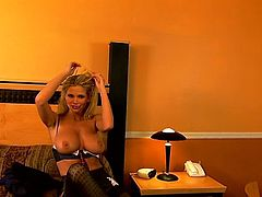 Watch this slutty blonde doctor babe as she shows off her nice smoking body in this tube video.