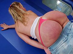 Blonde transsexual whore Costa has a big, round booty that asks for slaps and cock in it! She's a smoking hot whore with a huge sex drive. Watch her playing with her booty and her dick. Maybe she will slide a few fingers in that ass or she will receive the dick she deserves. Enjoy it!