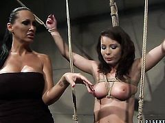 Brunette Zyna Baby with gigantic jugs and Mandy Bright both have great lesbian experience