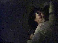 These two Asian couples have sex outdoors where they think no one can see them, especially during nighttime. These Japanese chicks are really naughty and horny.