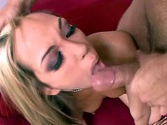 Be part of this video where a blonde lady, with a nice ass wearing a sexy thong and high heels, gets badly plowed. Jenny loves big cocks!