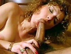 Kinky girl is spying on a couple while they fuck passionately in bedroom. She gets horny while watching curly mom riding hard dick in cowgirl position. She also is craving for fat flesh in her mouth when she sees horny mommy pumping solid pecker.