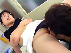 Porner Premium brings you an amazing free porn video where you can see how a busty Asian brunette doctor fucks with a patient til she reaches a massive orgasm.