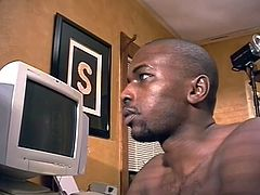 Lazy black boy Jerome loves sitting on his ass all day at his computer and damn, what an ass he has. This guy shows his best at his web cam and reveals us a big piece of meat and a round booty with a tight anus. Jerome loves the attention but will he give us more and stretch that tight hole for us?
