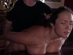 This amazing and sizzling siren Trina Michaels is under some wild penetration! She gets naked and starts making out for a nice fetish story!