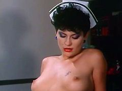 Slutty nurse gets her juicy pussy expertly eaten out