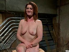 Chubby milf CiCi Rhodes is having BDSM fun with Isis Love in a basement. Isis binds Cici and spanks her big ass and then rubs her cunt with a toy and fists Cici's pink cave after fucking it with a strapon.