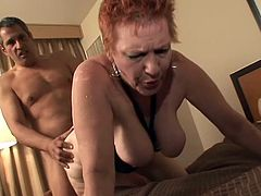 Just like in her youth, granny Susan is a fucking slut and she can't help herself not to fuck like one. She kneels for Savage's hard cock and gives her grandpa mean head before bending over. Savage begins to drill her ass from behind and makes Susan happy. Is he going to fill her up with his semen?