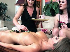 Horny and beautiful lesbians enjoy some adorable sex while playing with the fantasy of food fetish. This gorgeous babes got wet as soon as they started.