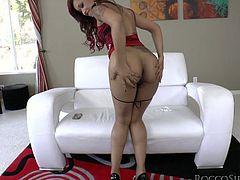 She is such a beauty and she is a perfection of modern sexuality! Nice ass, nice tits and so much passion, when she sees a huge cock.