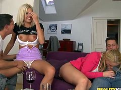 Make sure you have a look at this hardcore scene where these sexy blondes leave you speechless with their amazing bodies as they're fucked by big cocks in a foursome.