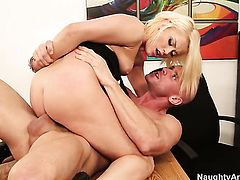 Exotic Ash Hollywood takes Johnny Sinss erect dick so fucking deep after foreplay