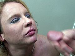 And you are going to get your cock so sensual, when she takes that one in her mouth, as this is a damn POV scene! Enjoy the show!
