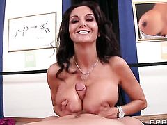 Xander Corvus makes Ava Addams with giant knockers suck his thick love torpedo non-stop