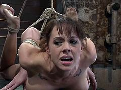Horny chick gets tied up by the master. The guy comes up and fucks Chanel deep in her mouth. Later on she also toys her wet pussy with a vibrator.