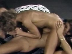 Retro lesbians are pretty nasty during their warm and alluring pussy stimulation scene