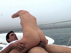 Hustler brings you an amazing free porn video where you can see the vicious blonde teen Sami St Clair as she rides a hard cock into a massive orgasm. She loves fucking on yachts!