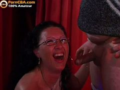 Horny daddies and cock sucking sluts in one hot orgy encounter in the club. They surely look proud that they get all these old cocks inside their cum starving throats for one delightful party.