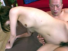 Naughty Asian whore Tsubasa Aihara is a sex freak. Seriosly, she loves to fuck and if there's a chance for hardcore sex she takes it. She gets her fanny filled with pretty hard cock but she has one more dick to handle in this hot sex video.