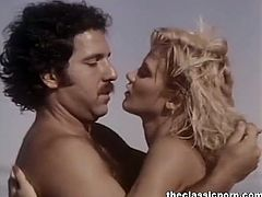 It is a great sunny day and this blonde is at the beach with her partner. No one seems to be around, so he pounds her hairy slit from behind and she rides him too.
