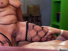 Although she is a woman at certain age she still loves to fuck. She spreads her legs wide to let her lover fuck her in missionary position. Horny stud pounds her mercilessly in and out just the way she likes it.