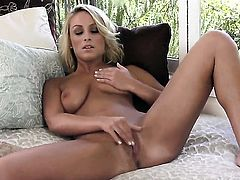 Lexi Swallow sticks dildo so fucking deep in her snatch