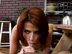 Sonny Hicks explores the depth of incredibly hot Joslyn Jamess throat with his schlong