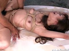 Rough bondage sex with a slutty Asian babe