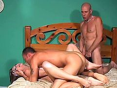 Enjoy watching these bisexual guys and chicks fucking each other's tight assholes and wet cunts until they all get satisfy.