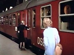 She takes a train everyday, and if there's a chance for a good, hard fuck she takes it. She wants to fuck him silly and today is her fucking day. Damn, what a filthy whore!
