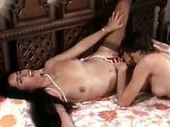 Are you looking for the hottest classic sex tube video? You are right here to enjoy watching two hussy lesbians are licking each others hairy pussies.