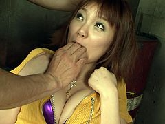 Absolutely crazy group of Asian studs got pleasure of dirty cruel sex game with one slutty Asian sexpot. They touched harshly and energetically all her body parts seeing pain in her eyes. Watch this cruel crazy group fuck in Jav HD porn clip!