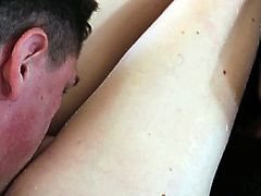 Slutty babe gets ravaged by one strong cock in hot hardcore porn scene