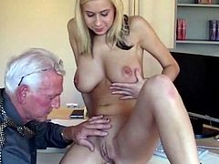 Voluptuous blonde receives one greedy cock smashing her tight pussy in hardcore
