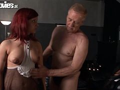 Check out this BDSM video where these kinky ladies have a threesome with a horny old man willing to do whatever to please them.