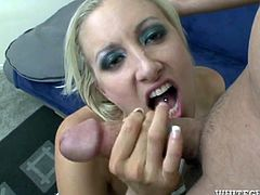 Chris Charming is playing dirty games with horny blonde Angel Long indoors. He makes the bitch suck his dick and then slams her tight butt.