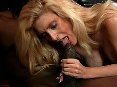 Spectacular Penny Serves A Tasty Blowjob To A Black Guy
