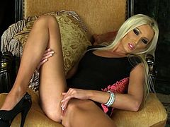 Astounding cougar Diana Doll likes to stroke her vag with this massive toy cock