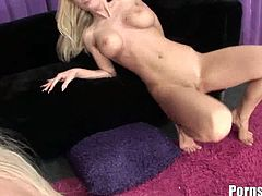 Pornstar brings you an exciting free porn video where you can see how the alluring blonde temptresses elena Sweet and Kenzie Marie share a hard cock while also going lesbo.