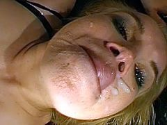 After an impressive fuck, blonde beauty needs to swallow the full loads