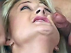 All-natural cutie Stacy Thorn was feeling brave enough to get fucked by two hard studs who really know how to pound away at a porn chick until she can barely breathe. She took each guy up the ass and got on her knees to open wide for their cum loads.