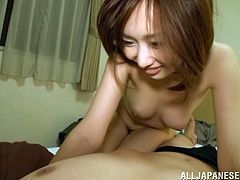 A gorgeous Japanese broad gets her hairy