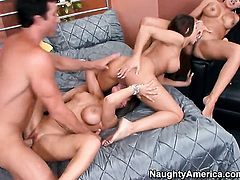 Rachel Starr with giant knockers and bald bush is another fucktoy of hard cocked guy Billy Glide