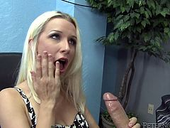 Dazzling Stevie Shae gets her pink pussy drilled in an office
