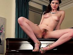 Fawna Latrisch takes dildo so fucking deep in her love hole