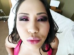 Jessica Bangkok and hard dicked dude Jonni Darkko enjoy oral sex