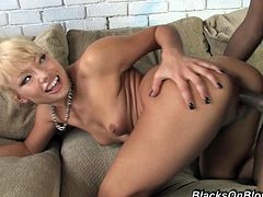 Beautiful Blond Teen Having Hardcore Interracial Sex