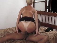 This nasty whore is starving for cock deep in her asshole. She seduced this stud with big stiff cock to banged all of her holes.