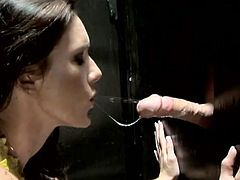 Taylor Rain loves cock and cum so much that she sucks this stranger's dick until he cums then drains his load into her mouth.